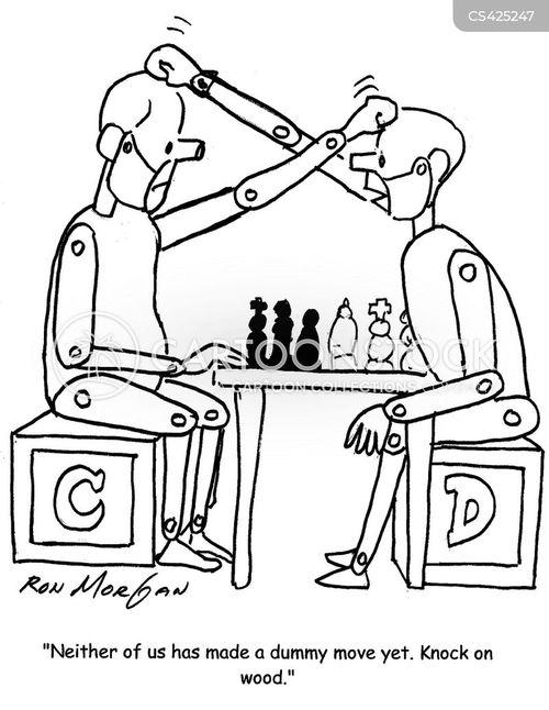 chess match cartoon