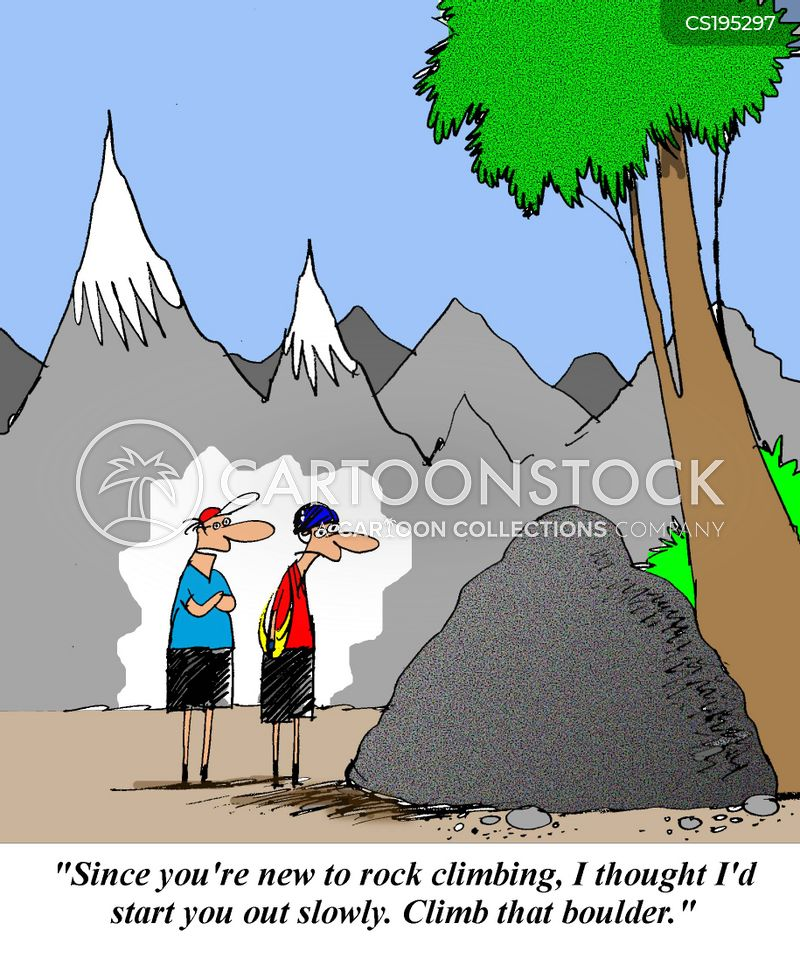 rock climb cartoon