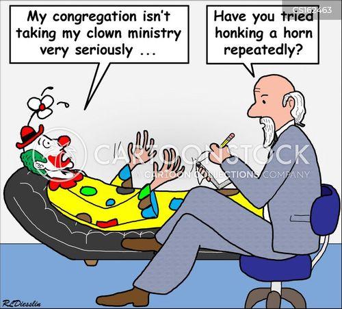 clownish cartoon