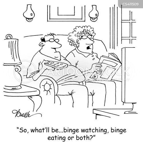 binge eating cartoon