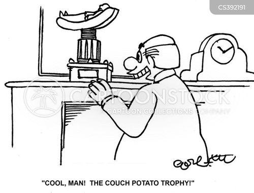 trophy cabinet cartoon