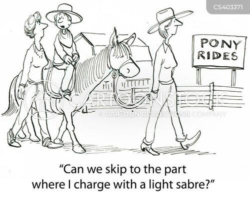 horse-rides cartoon