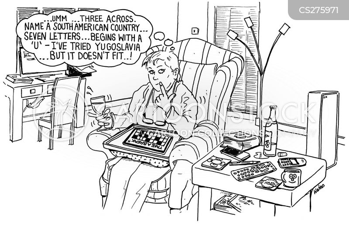 puzzling cartoon