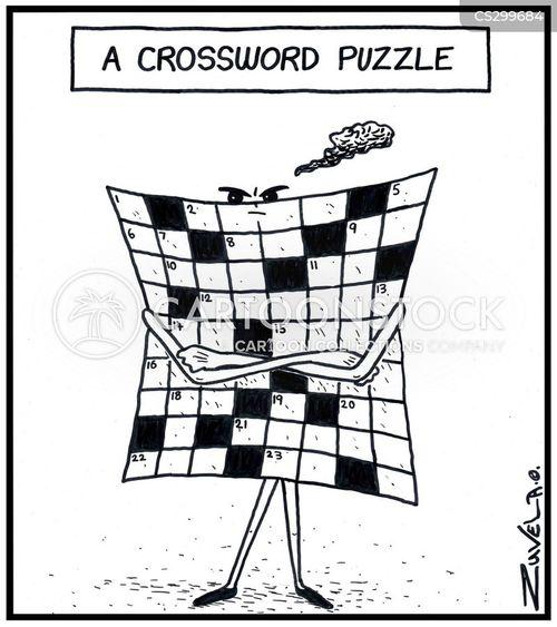 cross words cartoon