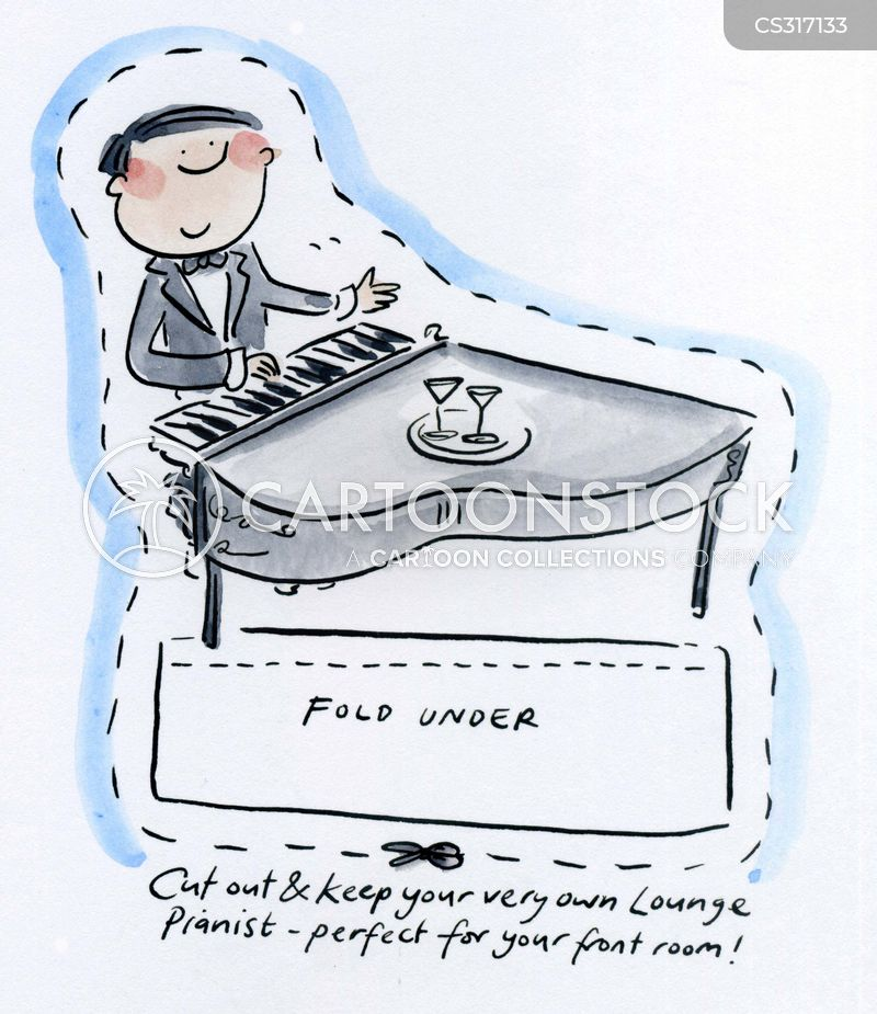 lounge pianists cartoon