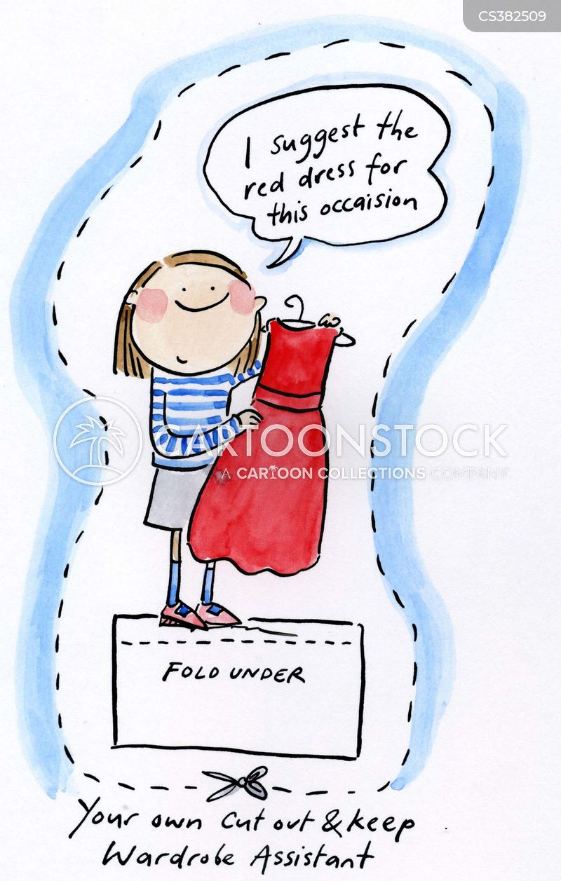 wardrobe assistant cartoon