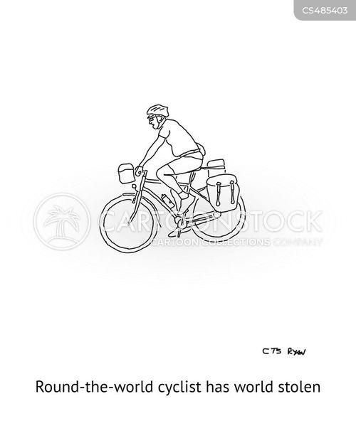 round the world cartoon