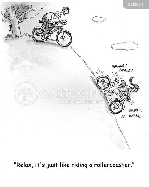 trail bikes cartoon
