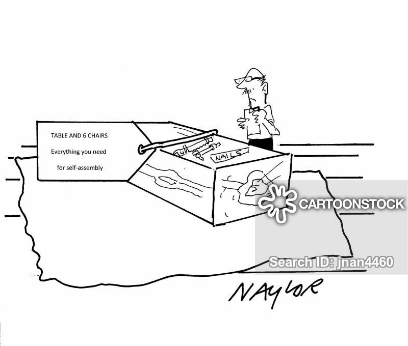 self assembly cartoon
