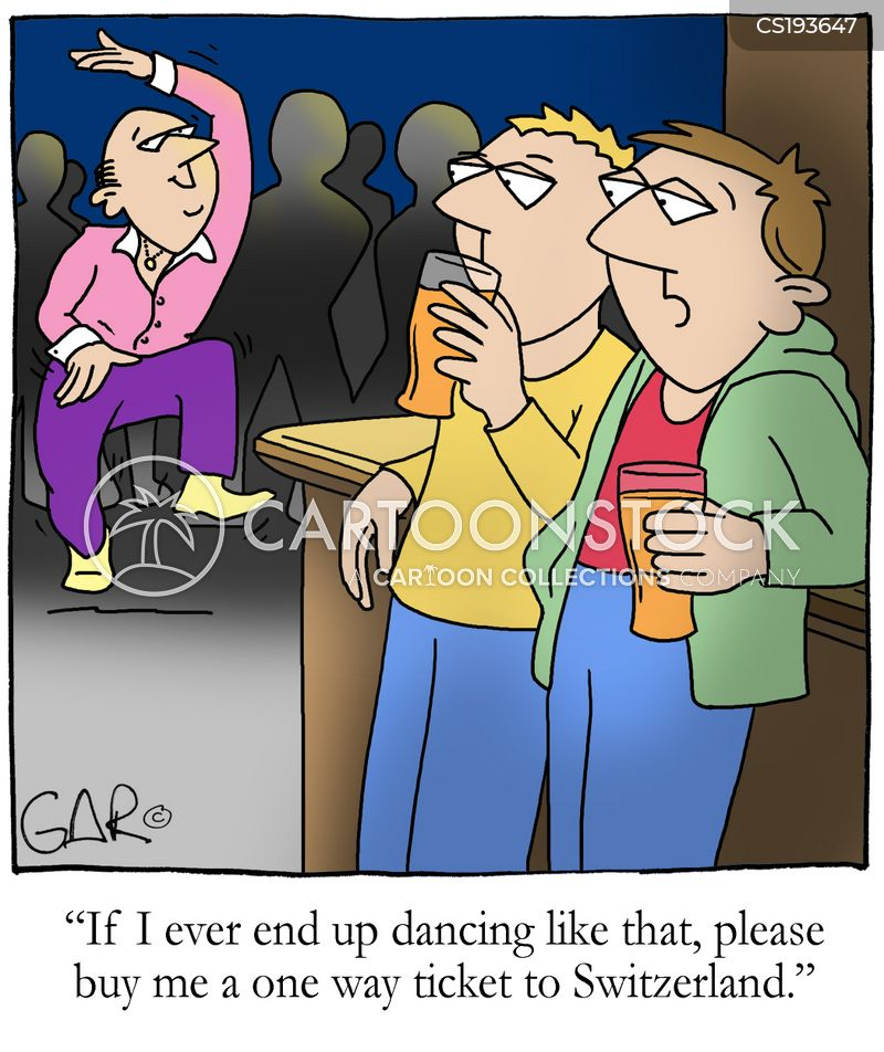 dad dancing cartoon