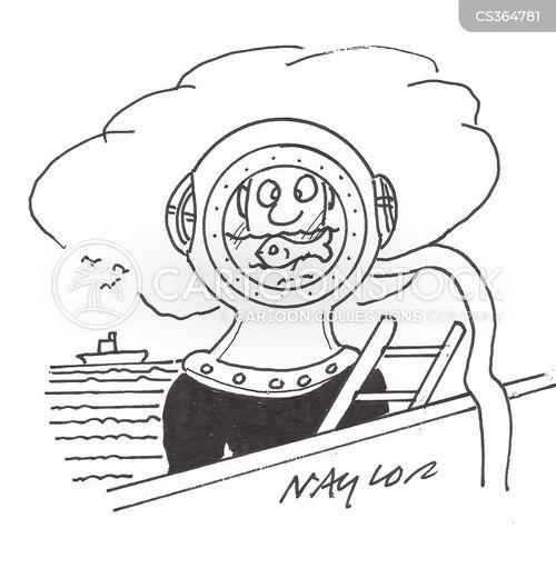 deep sea dive cartoon