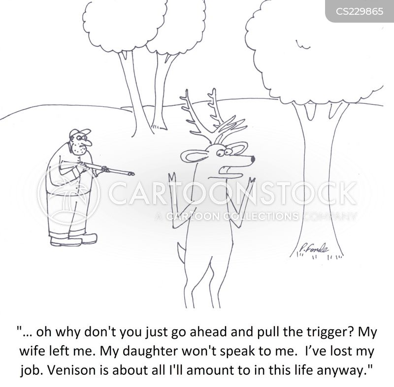red deer cartoon