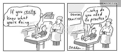 dental practices cartoon