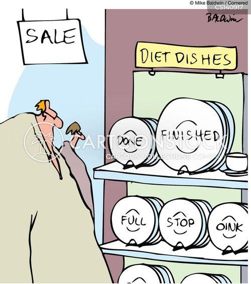 going on a diet cartoon