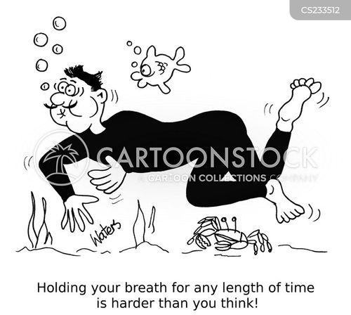 breathlessness cartoon