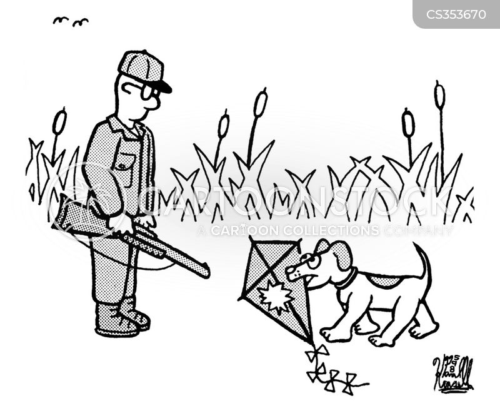 kite flyers cartoon