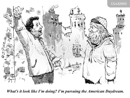 day-dreaming cartoon