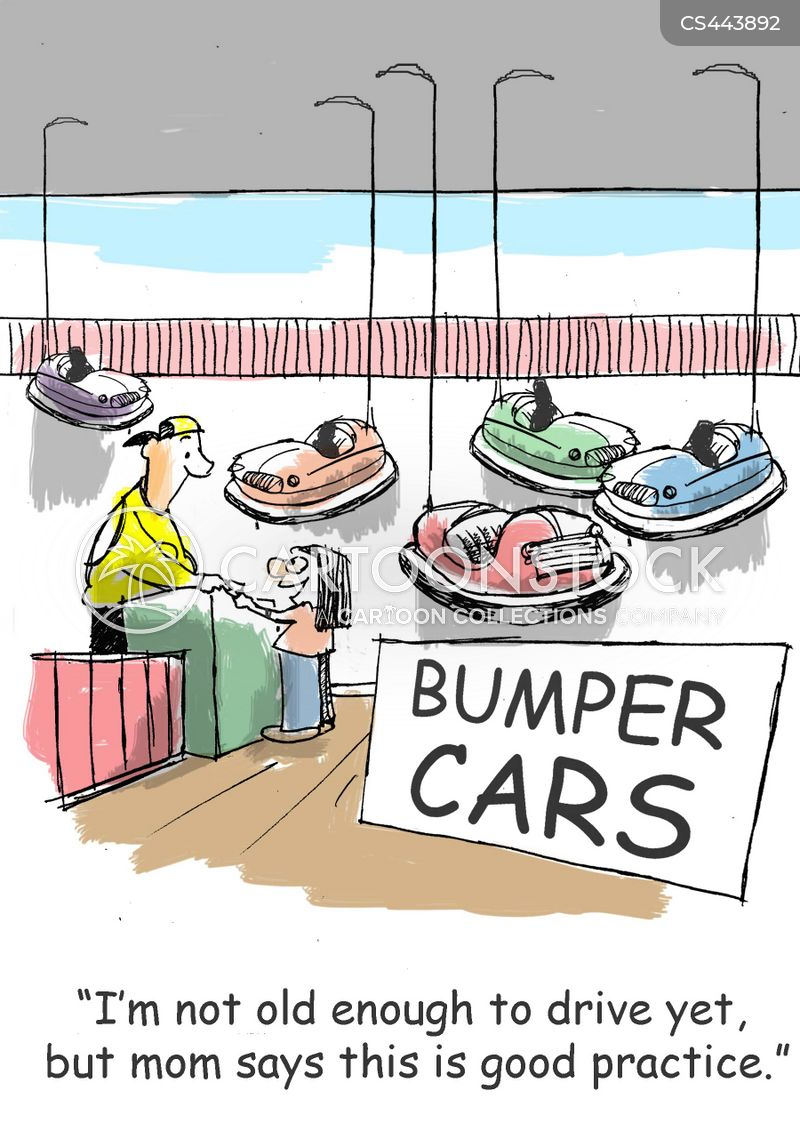 bumper cars cartoon