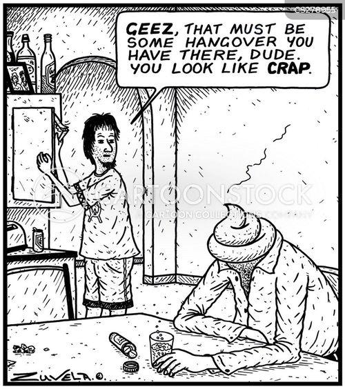 bad head cartoon
