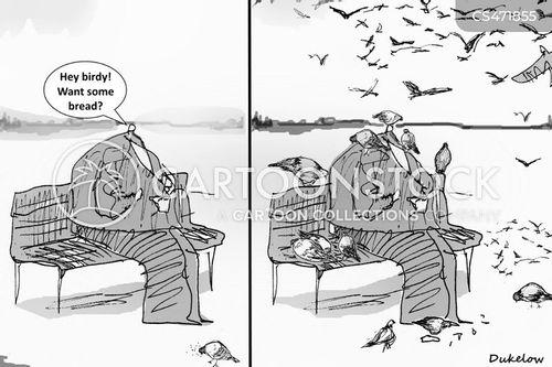 feed the bird cartoon