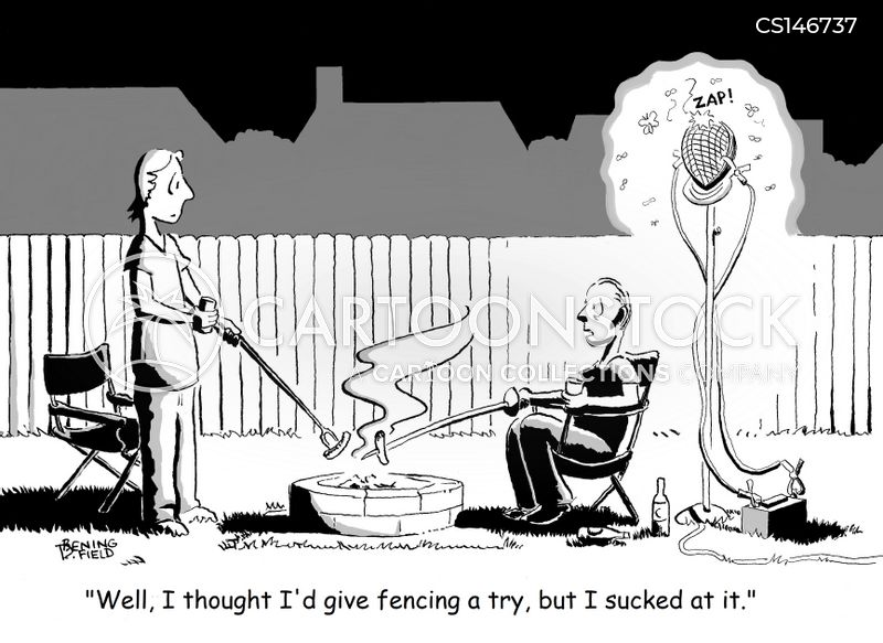 fencers cartoon