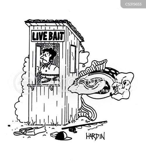 live bait cartoon