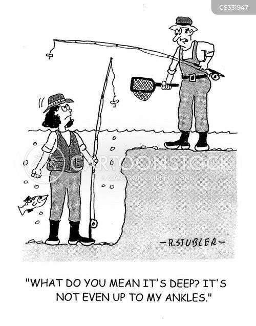 wading cartoon
