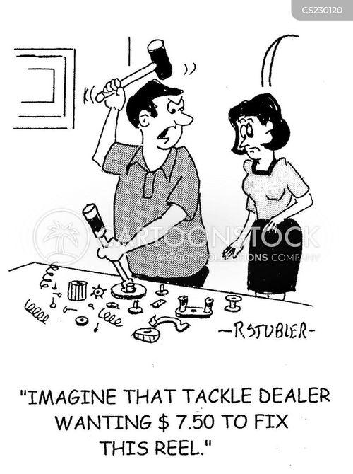 fishing store cartoon
