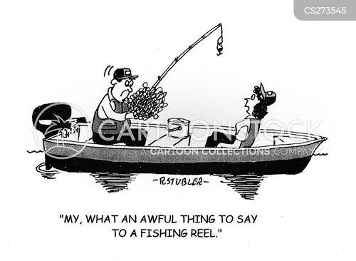 fishing reel cartoon
