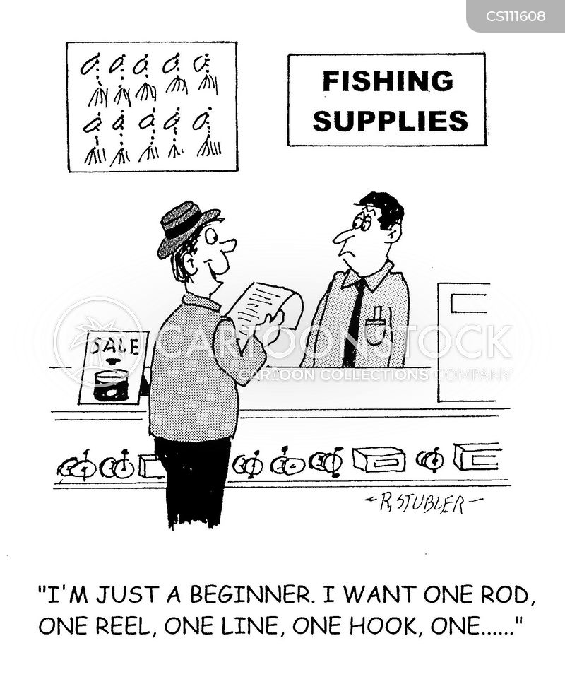 tackle shops cartoon