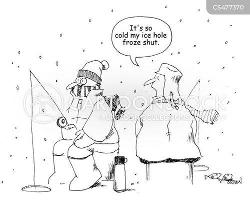 ice holes cartoon