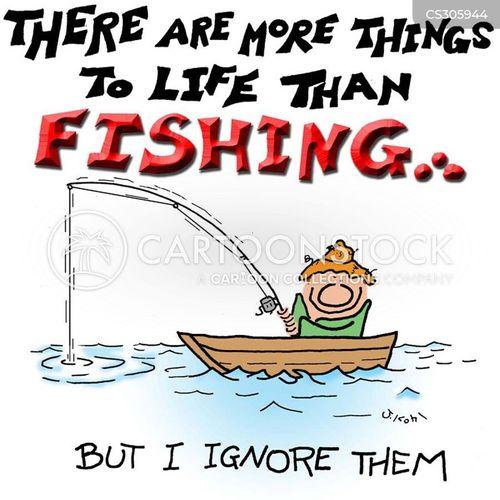 fishing enthusiasts cartoon