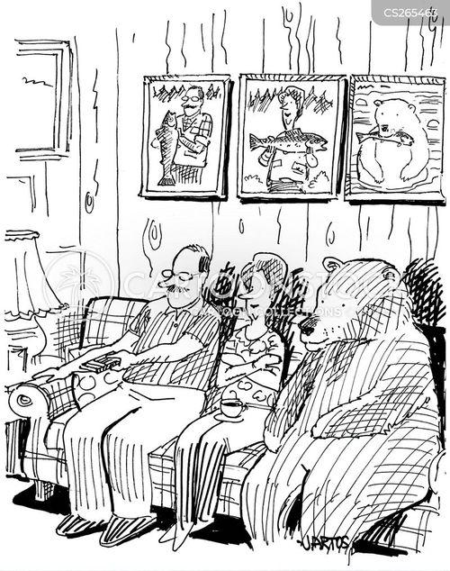 family members cartoon
