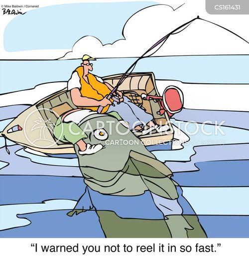catching a fish cartoon