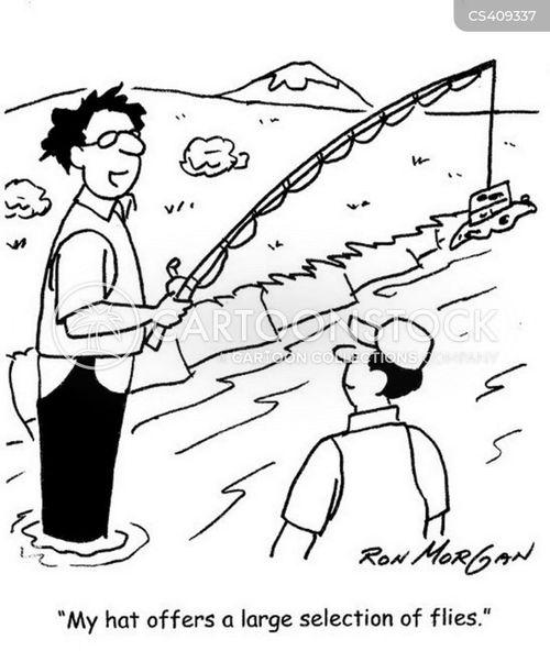 fishing flies cartoon