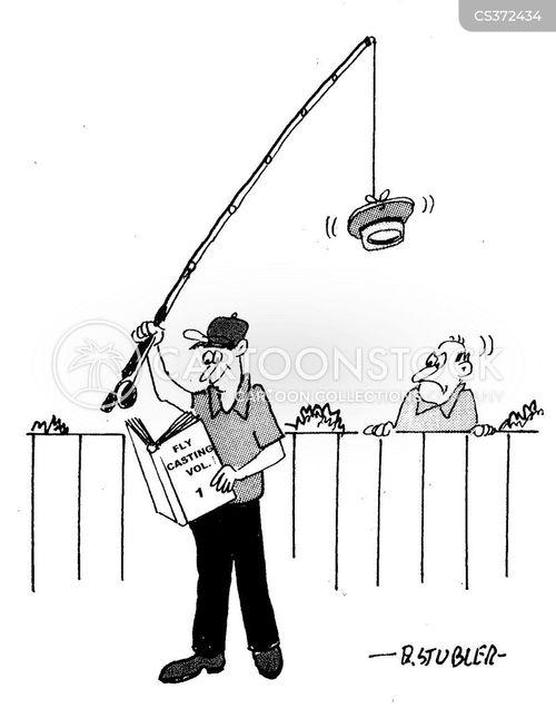 fly fishermen cartoon