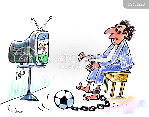 football fanatic cartoon