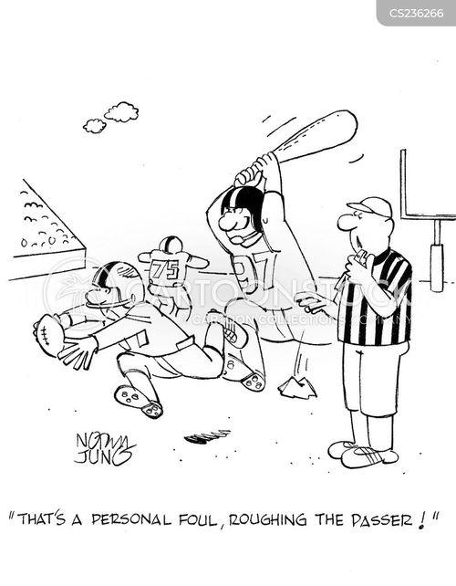 personal foul cartoon