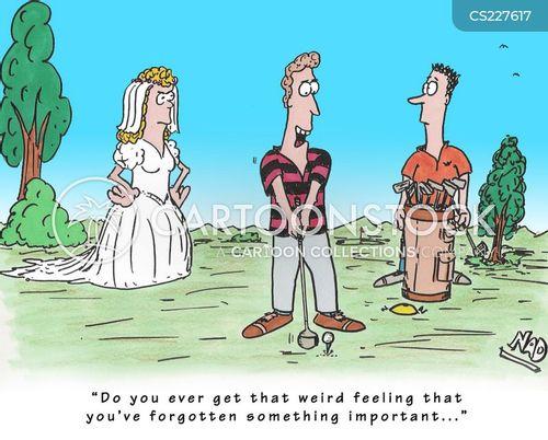 golf widow cartoon