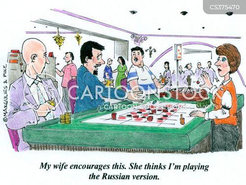 russian roulette cartoon