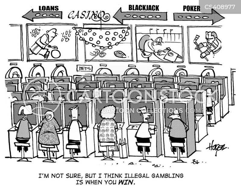 Image result for gambling addict cartoon