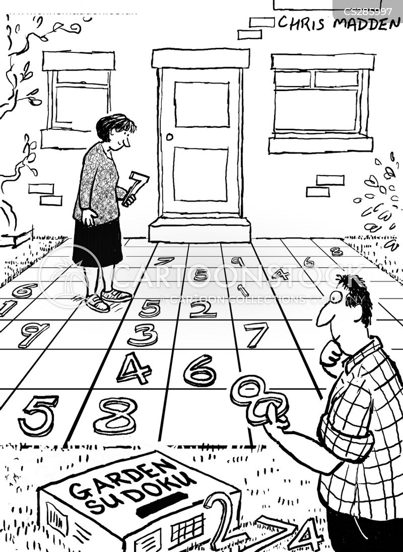 number games cartoon