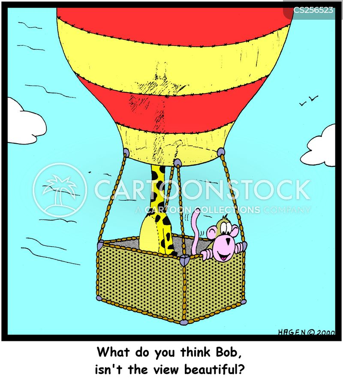 hot-air balloons cartoon
