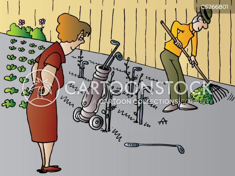 cartoons und karikaturen mit gartenarbeit golf clipart golf clipart