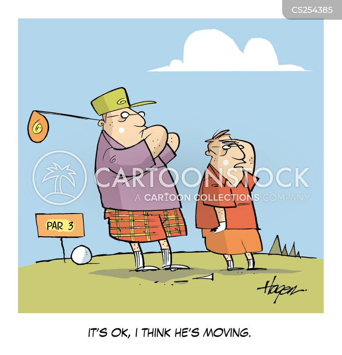 caddying cartoon