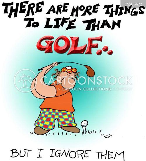 golf fanatics cartoon