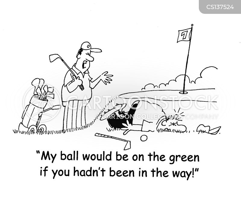 Angry Golfer Cartoons And Comics Funny Pictures From Cartoonstock