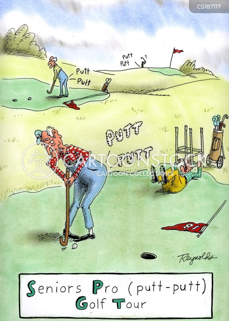 Senior Golf Cartoons Senior Tour Cartoon 1 of 1