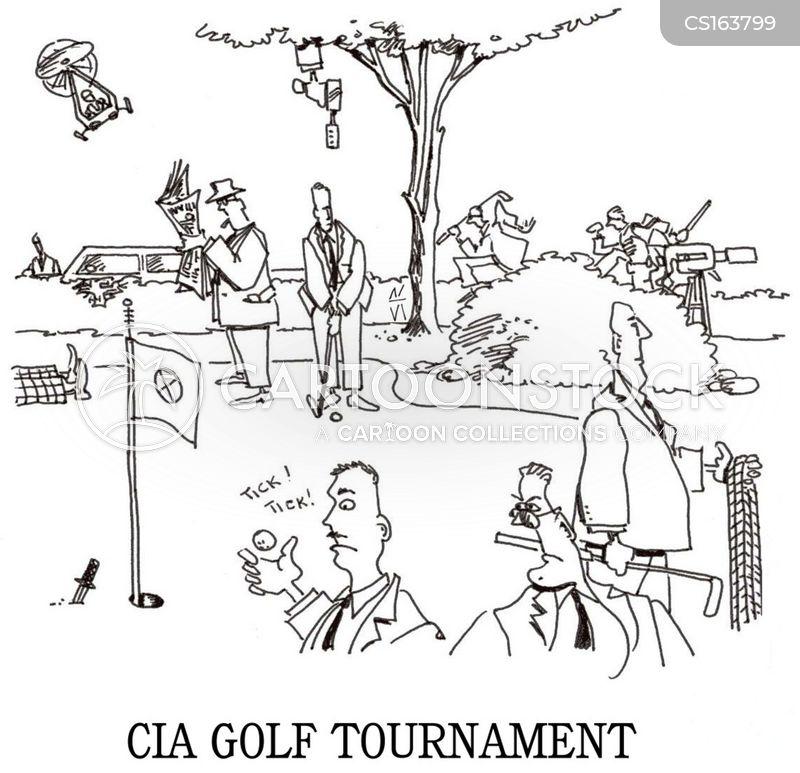 golf tournament cartoon