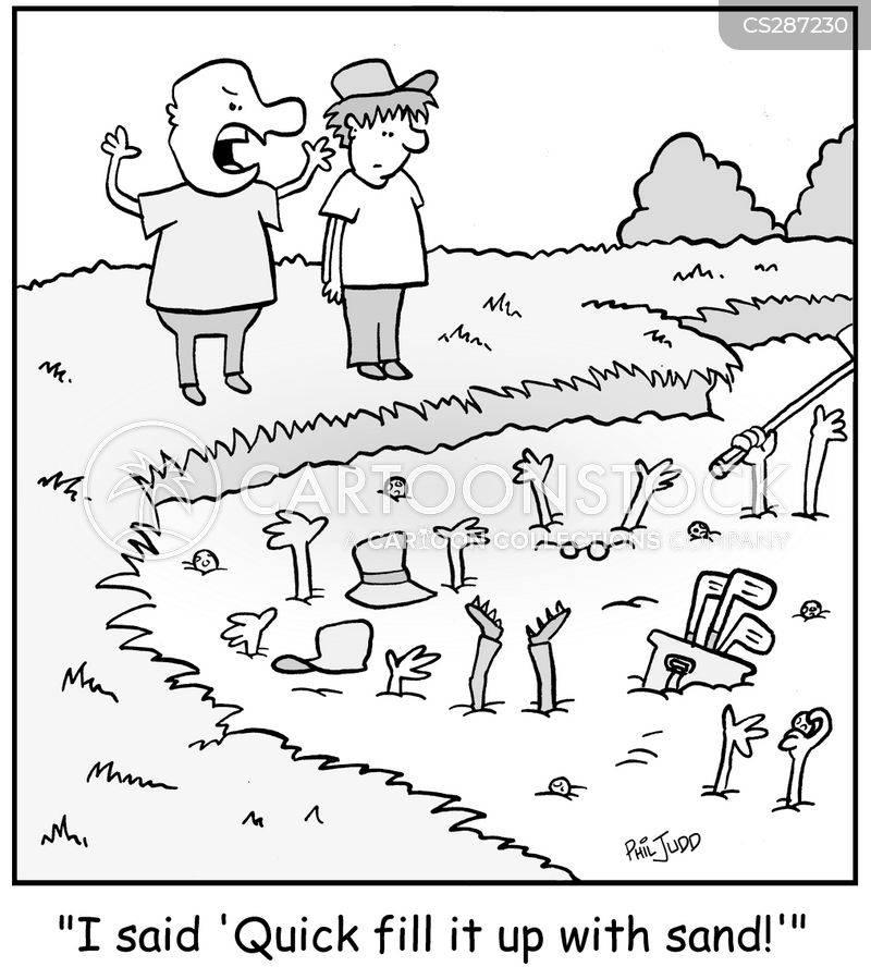 teeing cartoon